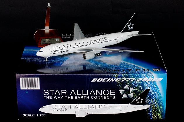 "United Airlines B777-200ER ""Star Alliance"" N77022 JC Wings 1:200 Diecast XX2966"