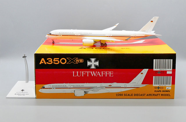 Luftwaffe A350XWB Reg: 10+03 JC Wings Scale 1:200 Diecast FLAPS DOWN XX20010A