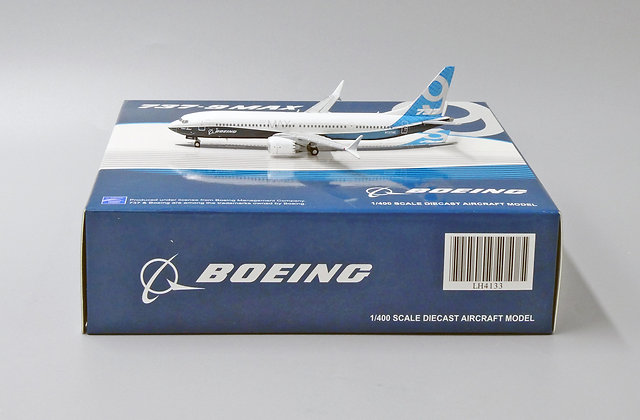 Boeing House Color B737-9MAX Reg: N7379E JC Wings 1:400 Diecast Model LH4133