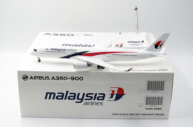 Malaysia Airlines A350-900 Flaps Down JC Wings 1:200 Diecast models LH2117A
