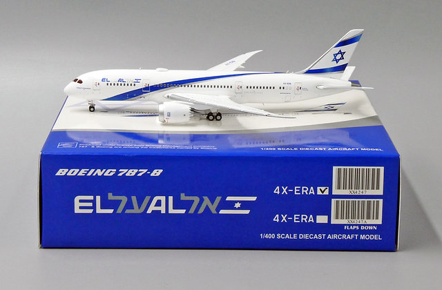 EL AL B787-8 Reg: 4X-ERA JC Wings Scale 1:400 Diecast model XX4247
