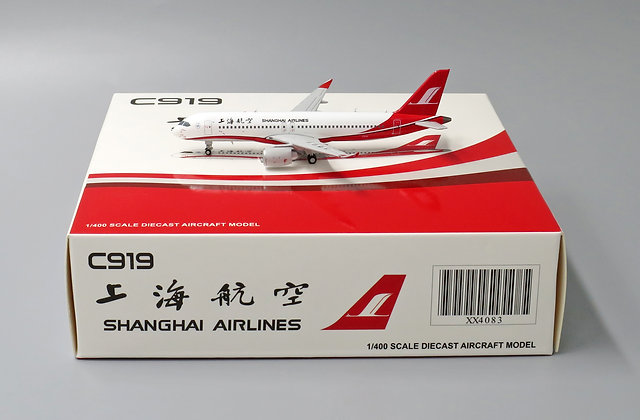 Shanghai Airlines C919 JC Wings Scale 1:400 Diecast model XX4083