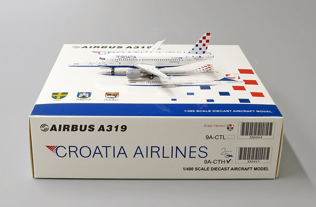 Croatia Airlines A319 Reg: 9A-CTH JC Wings Scale 1:400 Diecast Model XX4065