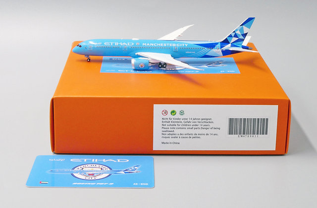 Etihad B787-9 Manchester City Reg: A6-BND JC Wings 1:400 Diecast EW4789011