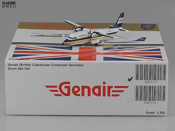 British Caledonian (Genair) Short360 G-BKZR 1:200 Diecast model GJ mould XX2535