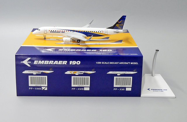 EMBRAER EMBRAER 190 Reg: PP-XMB JC Wings Scale 1:200 Diecast Model LH2218