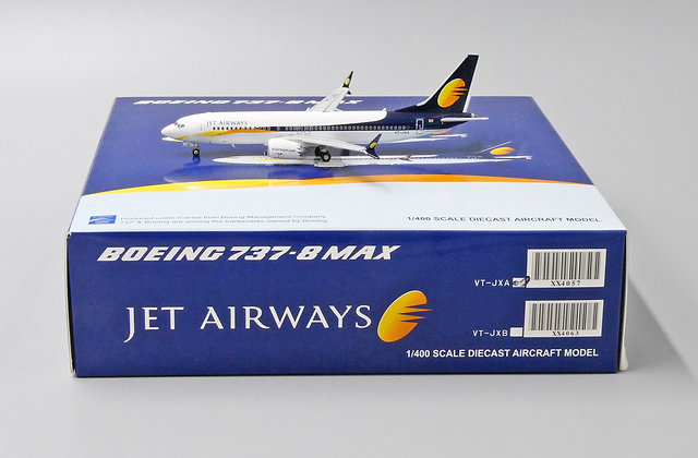 Jet Airways B737-8MAX Reg: VT-JXA JC Wings Scale 1:400 Diecast Model XX4057