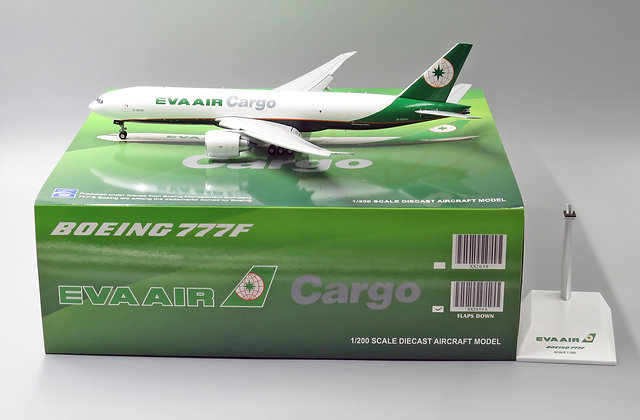 Eva Air Cargo B777-200F B-16781 FLAPS DOWN JC Wings 1:200 Diecast Models XX2039A
