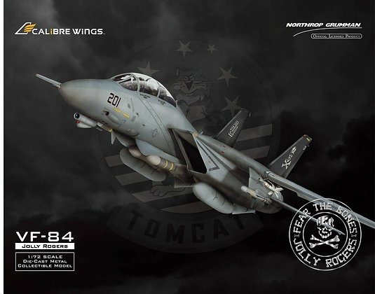 US Navy F-14A VF-84 Jolly Rogers Calibre Wings1:72 Diecast CA72JR02 Normal Last4