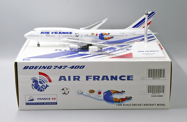 Air France B747-400 World Cup Reg: F-GEXA JC Wings Scale 1:200 Diecast XX2193