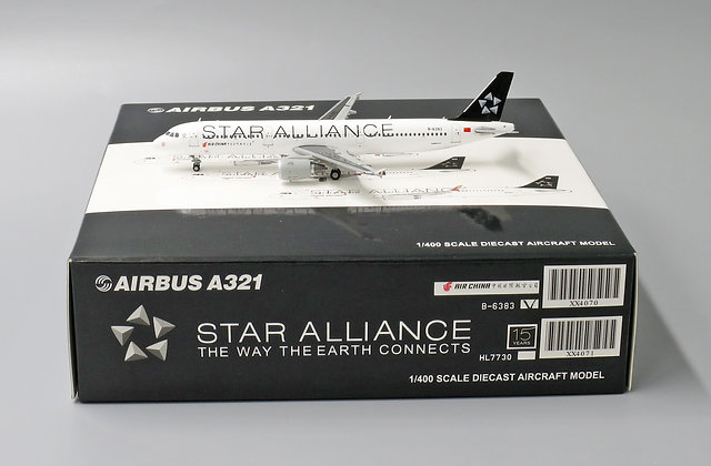 Air China A321 Star Alliance B-6383 With Aircraft tug truck JC Wing 1:400 XX4070