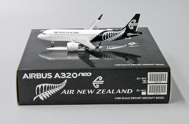 Air New Zealand A320 Neo Reg: ZK-NHA JC Wings Scale 1:400 Diecast Model XX4208