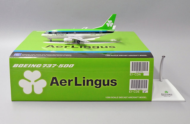 Aer Lingus B737-500 Reg: EI-CDE JC Wings Scale 1:200 Diecast Model XX2364