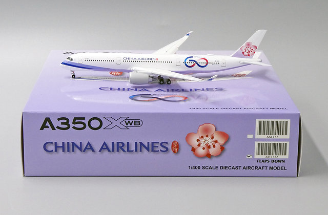 China Airlines A350XWB Reg: B-18917 JC Wings Scale 1:400 Diecast Model XX4168A