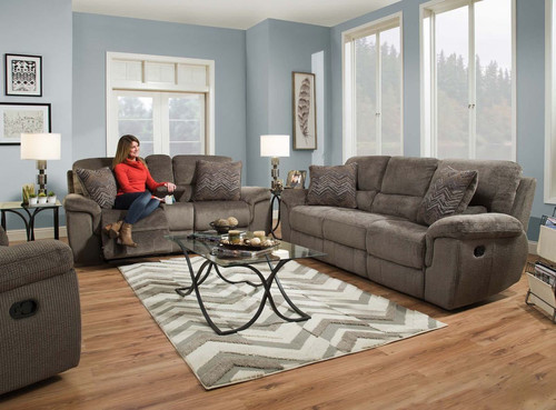 Reilly Taupe Reclining Sofa U0026 Loveseat