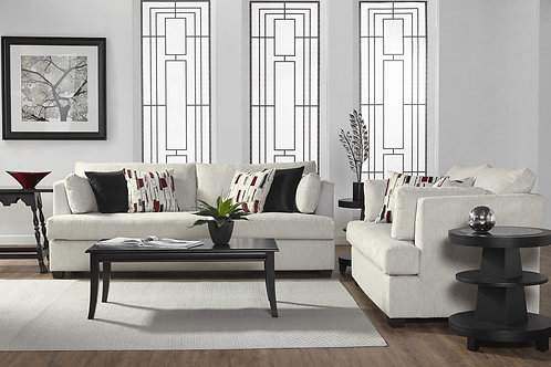 Lyric Platinum Sofa & Loveseat