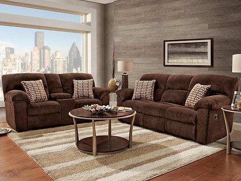 Chevron Mink Reclining Sofa & Loveseat
