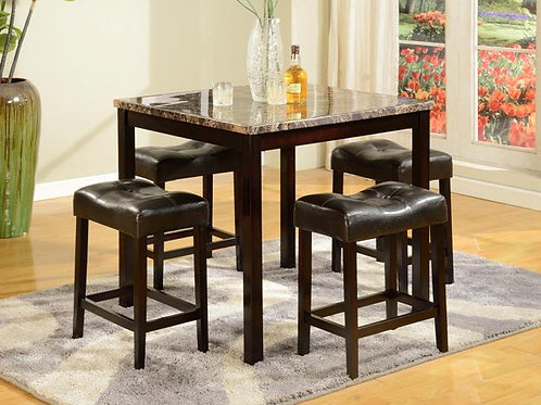 Kinsey 5 Piece Counter Height Dining Set