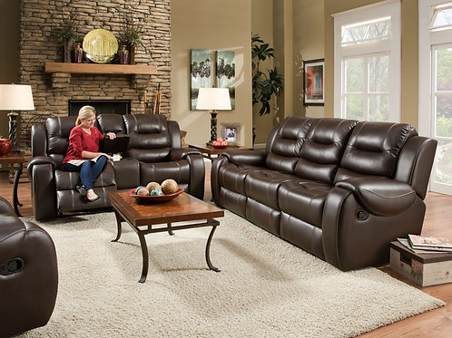 Jamestown Umber Reclining Sofa & Loveseat