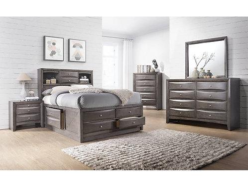 Emily Grey 5 Piece Bedroom Set (Q)