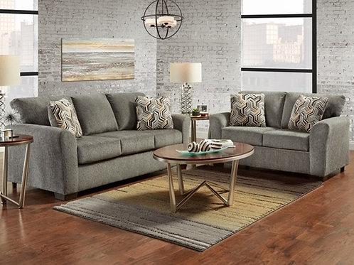 Allure Grey Sofa & Loveseat