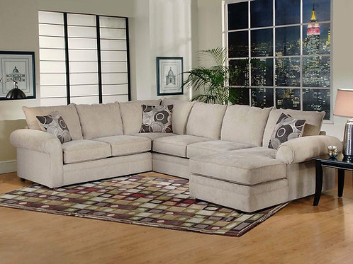 Ridge Chocolate 3pc Sectional