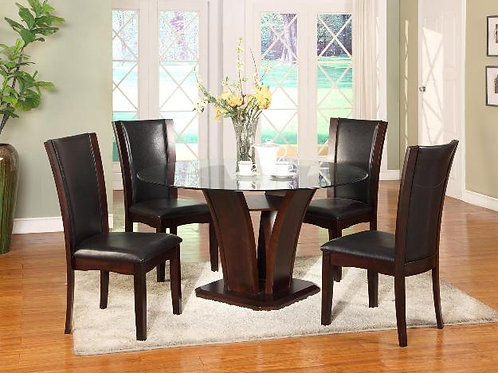 Camelia 5pc Round Dining Set