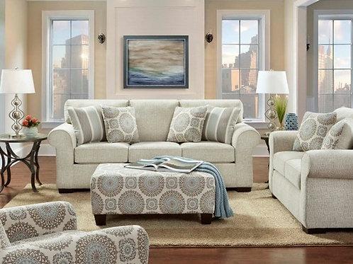 Charisma Offwhite Sleeper Sofa (Q)