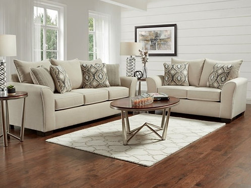 Ashton Khaki Sofa & Loveseat
