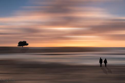A walk to sunset