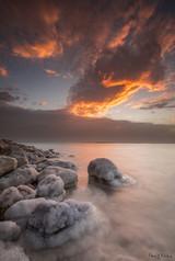 A fiery sunrise