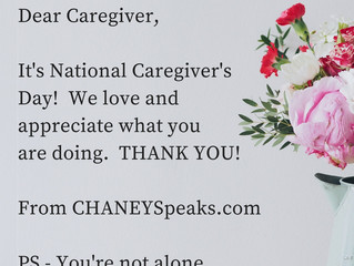 It's National Caregiver's Day!