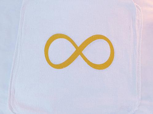 Infinity yellow crystal grid cloth