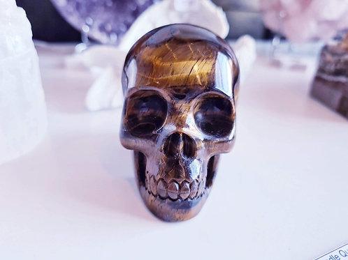 Tigers Eye Skull