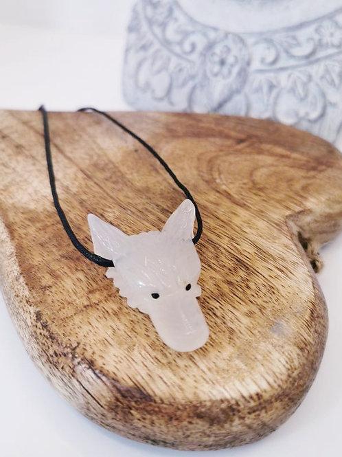 Onyx Wolf Pendant