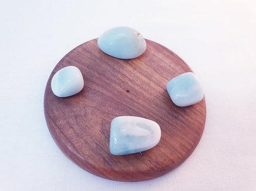 Set of 4 Amazonite Tumbled Stones