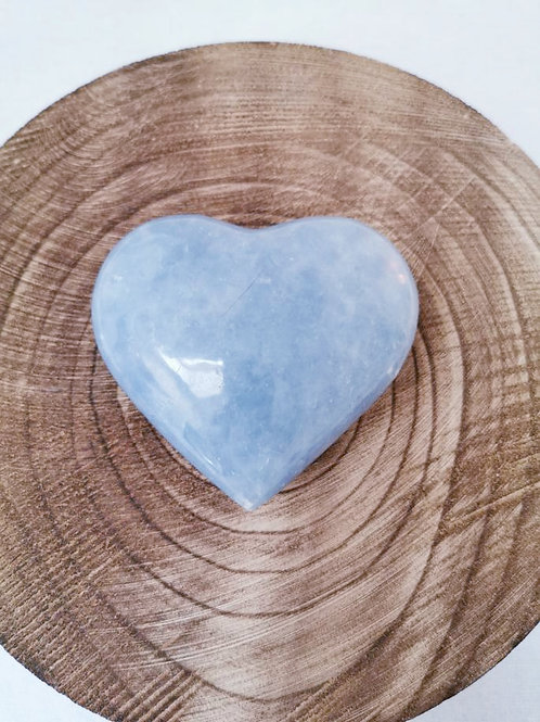 Large Blue Calcite Heart