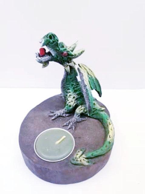 Green Dragon T-light Holder