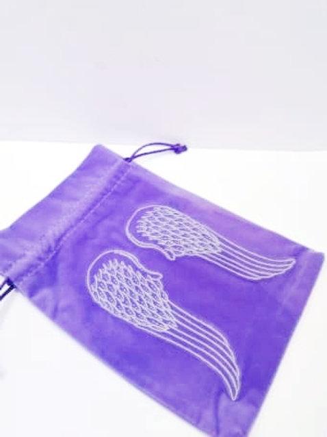 Purple Angel Wings Tarot/Angel Card Bag