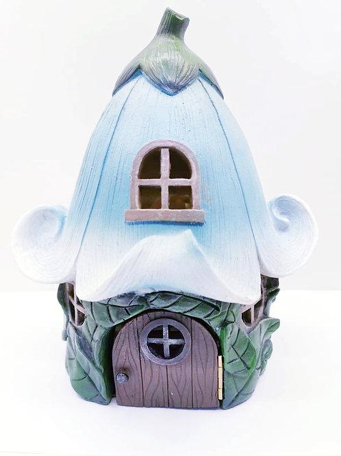 Blue Flower Fairy House