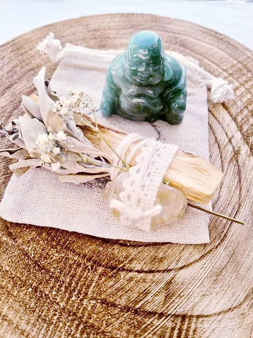 Green Aventurine Buddha Crystal Set