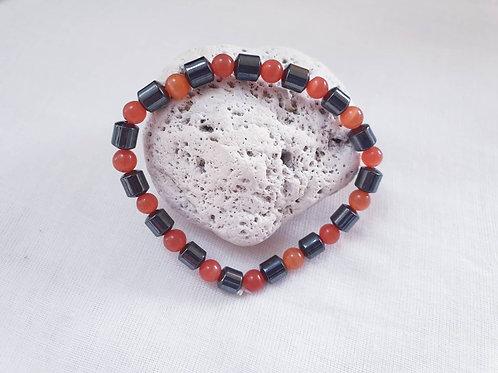 Hematite & Cats Eye Bracelet