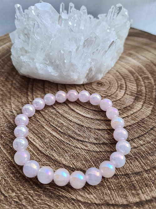 Aura Rose Quartz  Bracelet