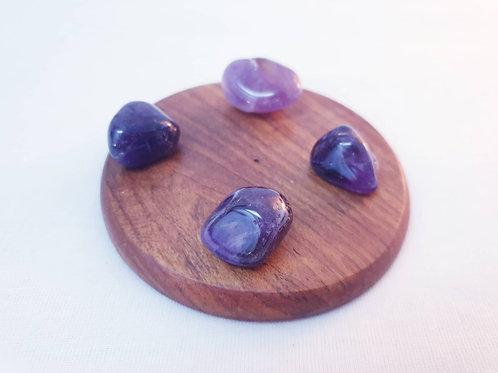 Set of 4 Amethyst Tumbled Crystals
