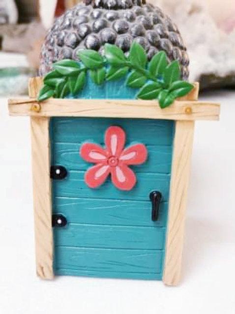 Green Fair Door with Flower