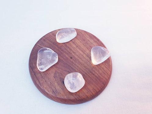 Set of 4 Clear Quartz Tumbled Crystals