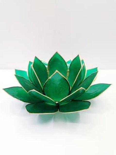 Green Lotus T-light Holder