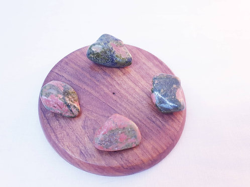 Set of 4 Unakite Tumbled Crystals