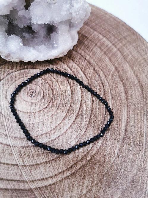 Black Tourmaline Facet Bracelet