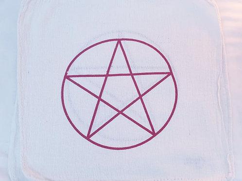 Pentagram red crystal grid cloth